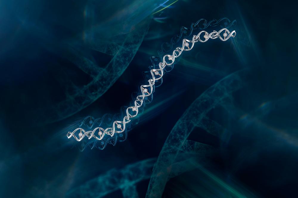 DNA collection diamond bracelet by DeGem