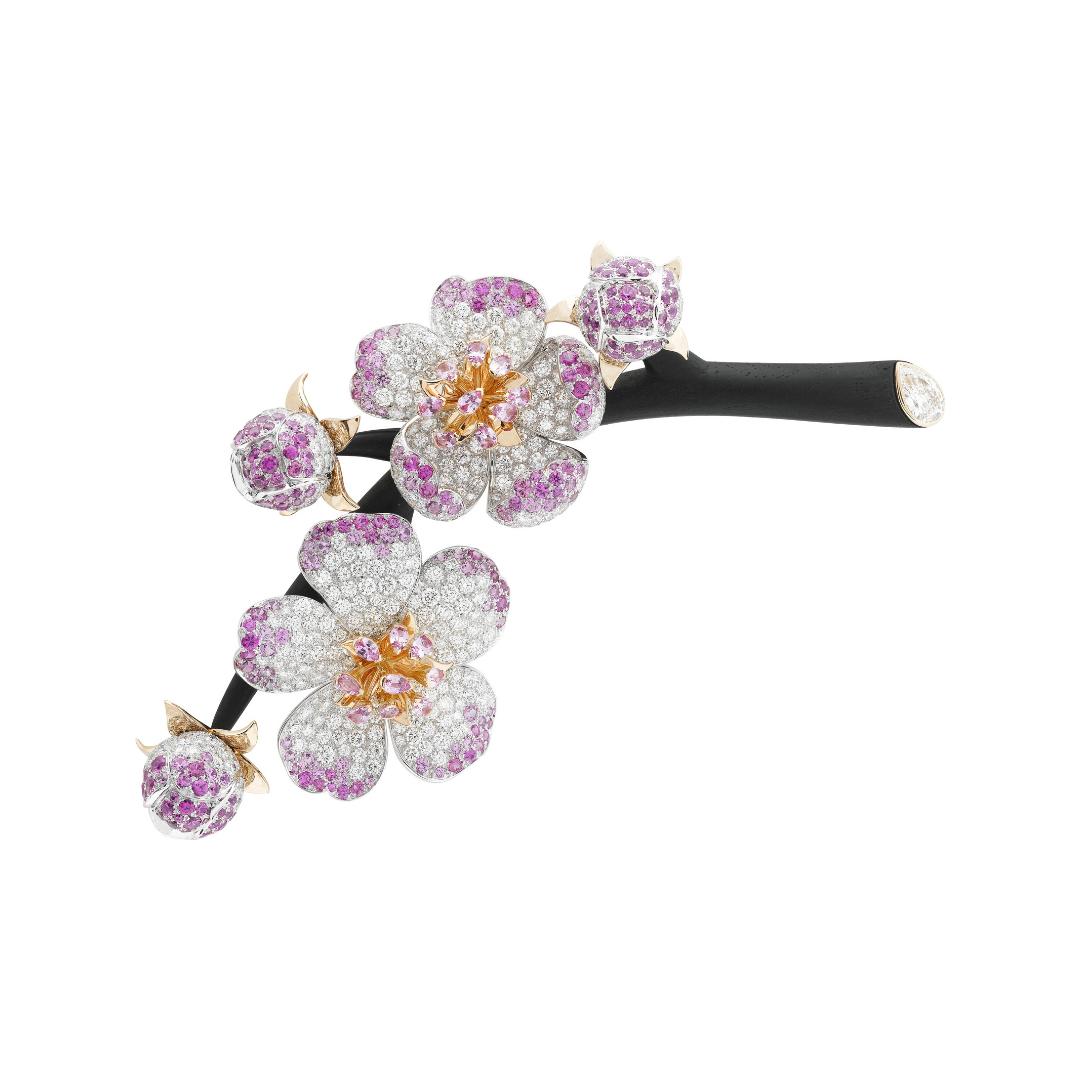 Cerisier d'ébène clip - Van Cleef & Arpels
