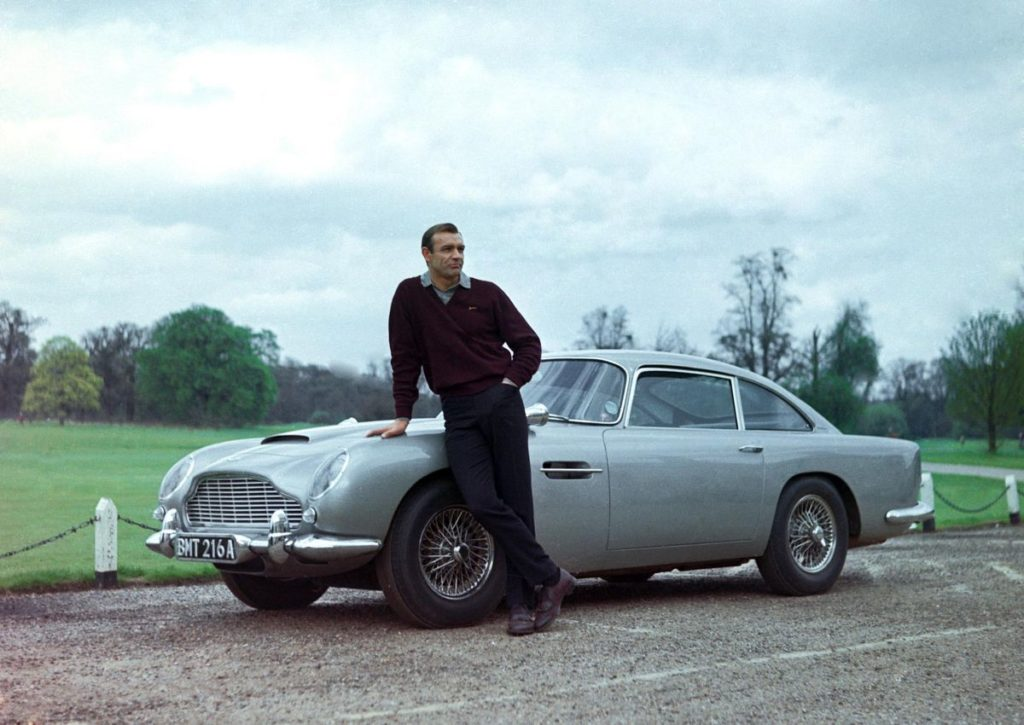 Aston Martin DB5 - famous cars in movies
