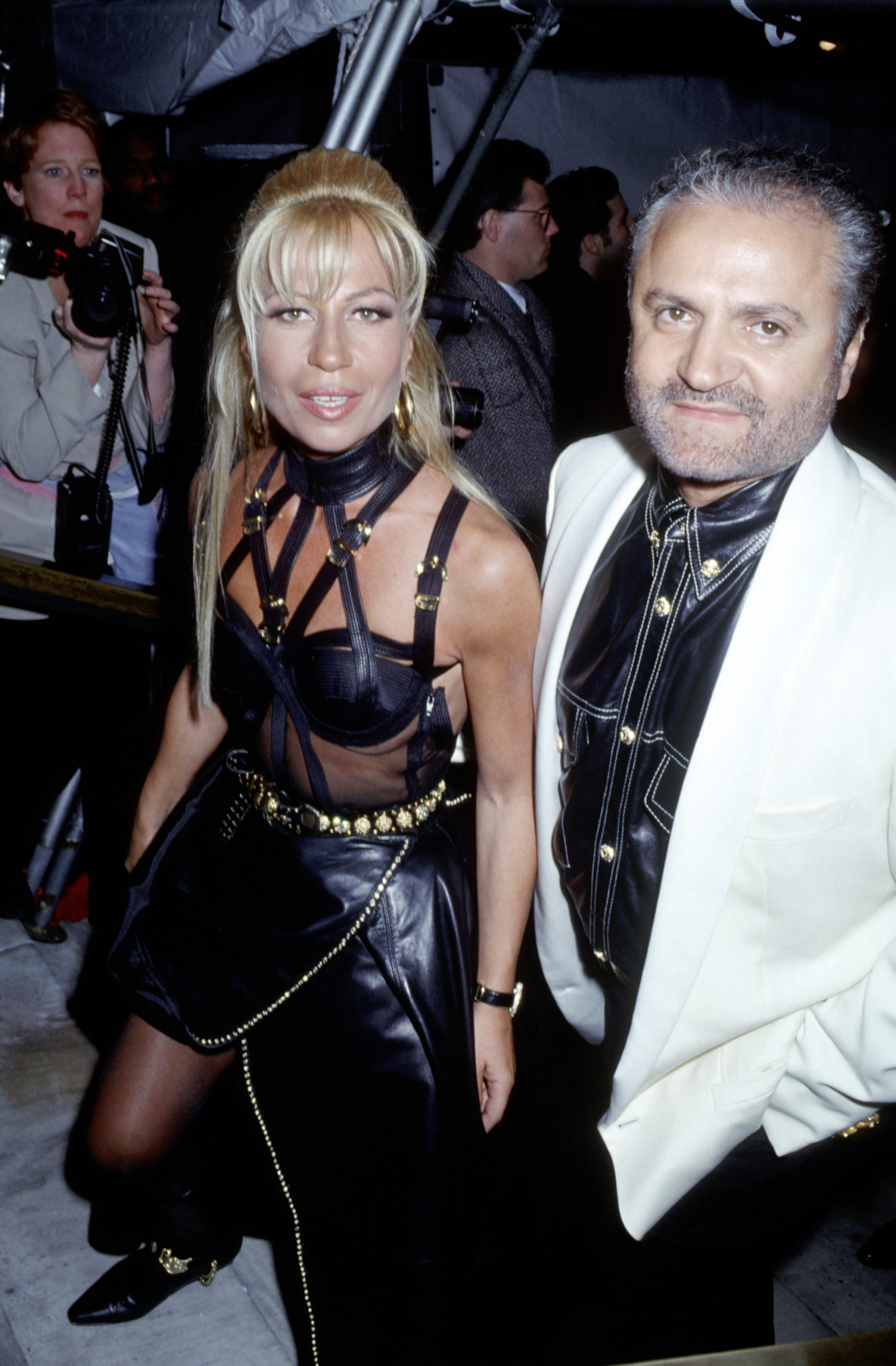 fashion muses Donatella and Gianni muse