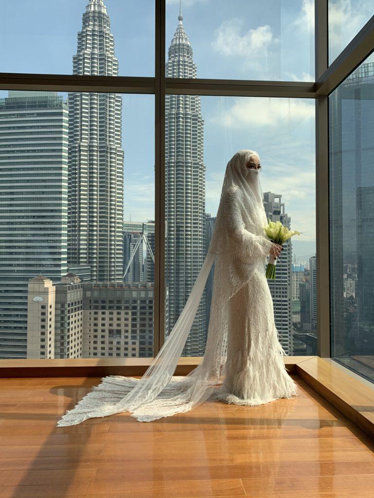 Neelofa wedding dress