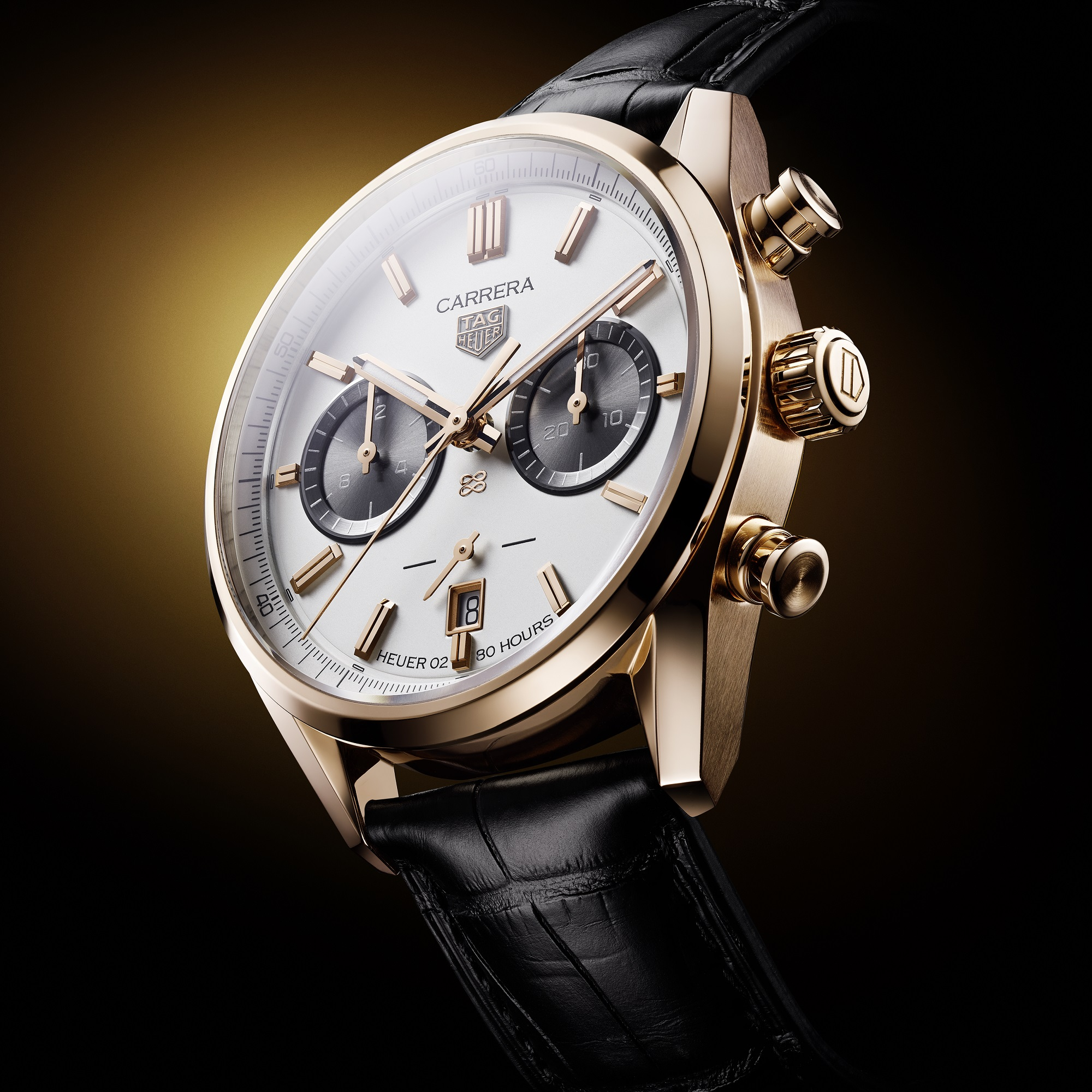 TAG Heuer Carrera Chronograph Gold Jack Heuer's Birthday watch