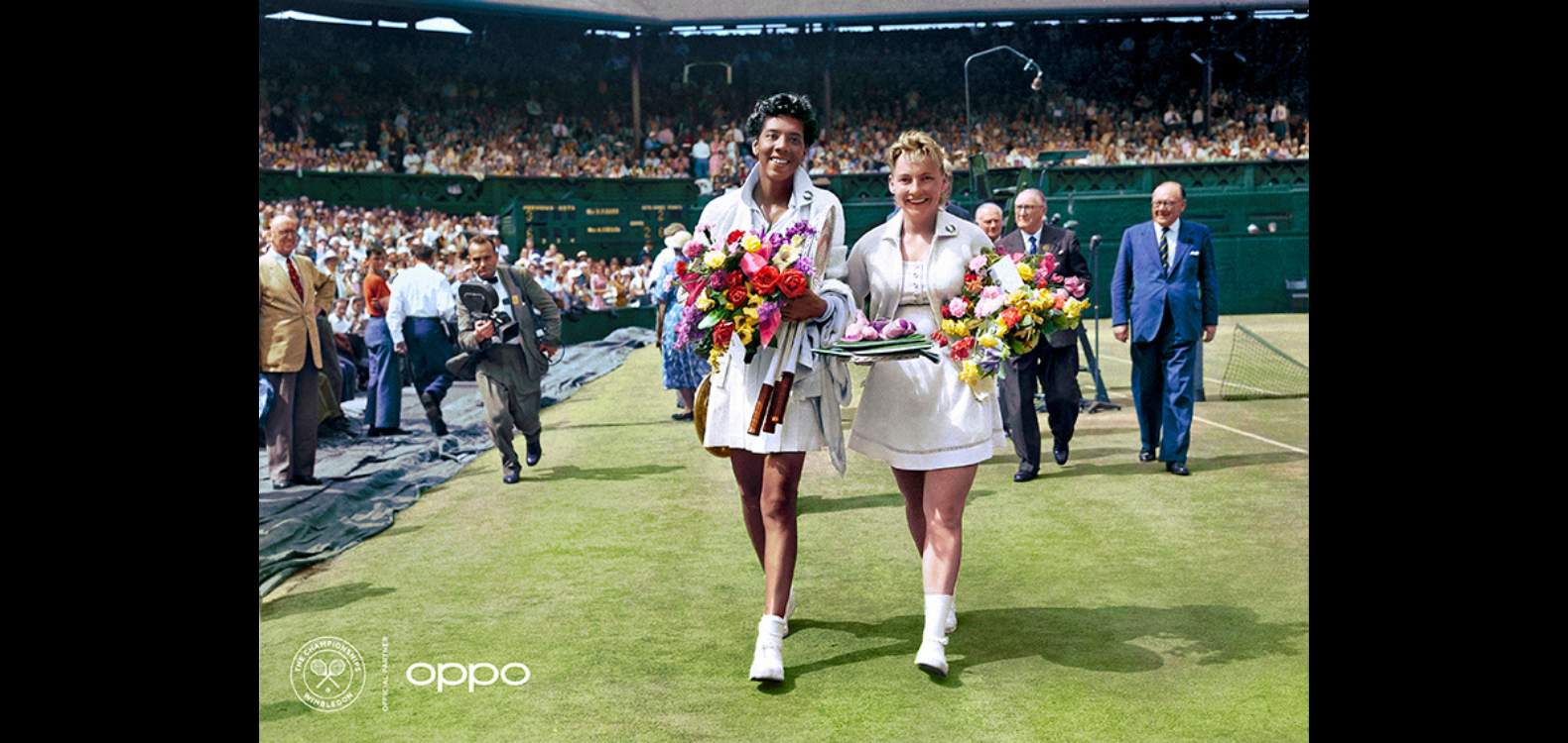 OPPO recolours historial tennis images in celebration of Wimbledon's return