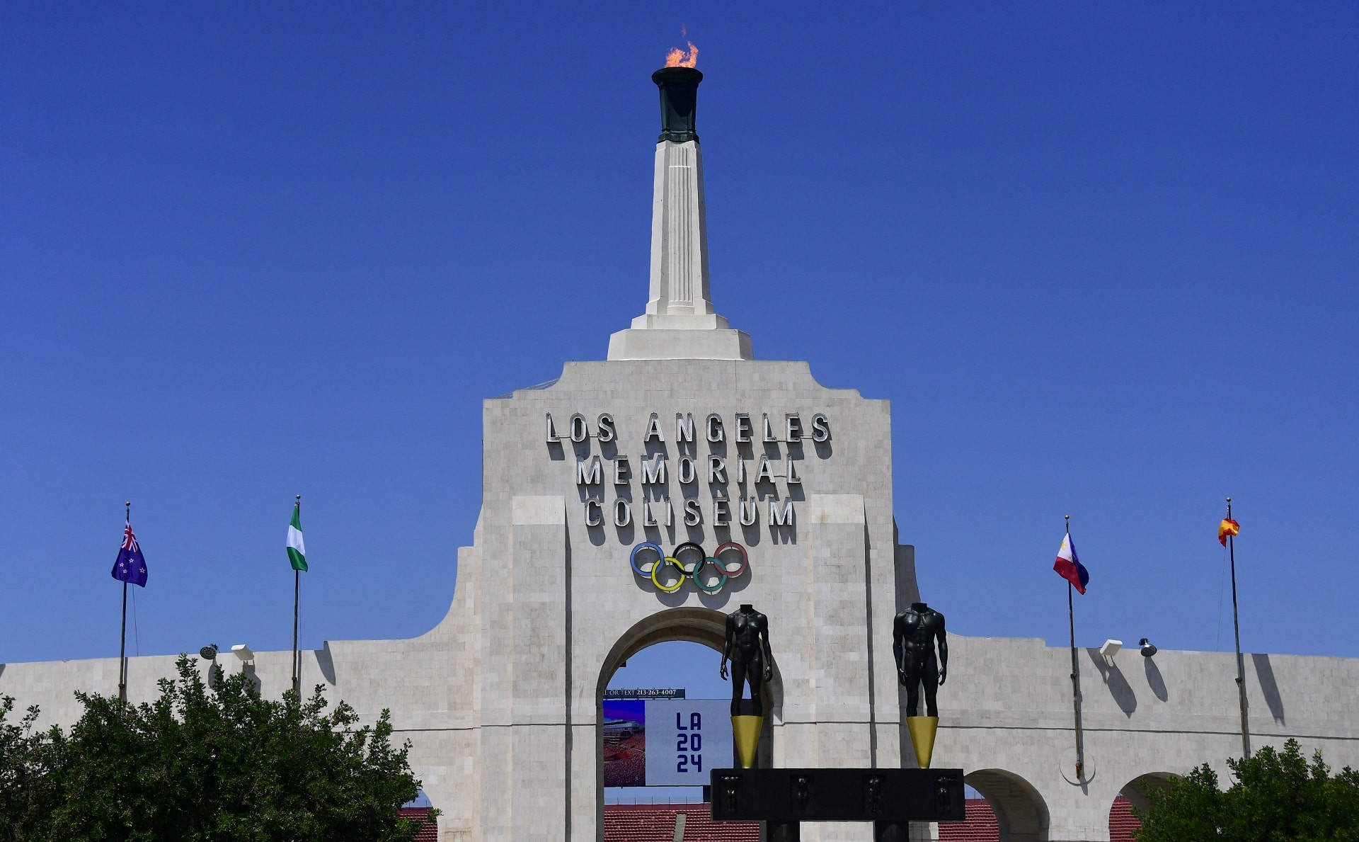 The Los Angeles Memorial Coliseum.