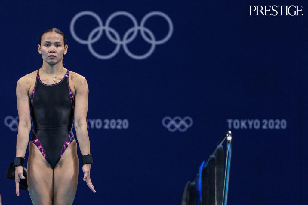 Pandelela Rinong  from Malaysia at Tokyo 2020 Olympics