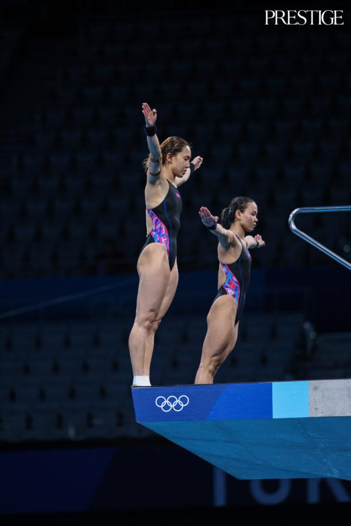 Pandelela Rinong and Leong Mun Yee from Malaysia at Tokyo 2020 Olympics