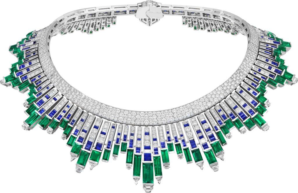 Nuée d'émeraudes necklace