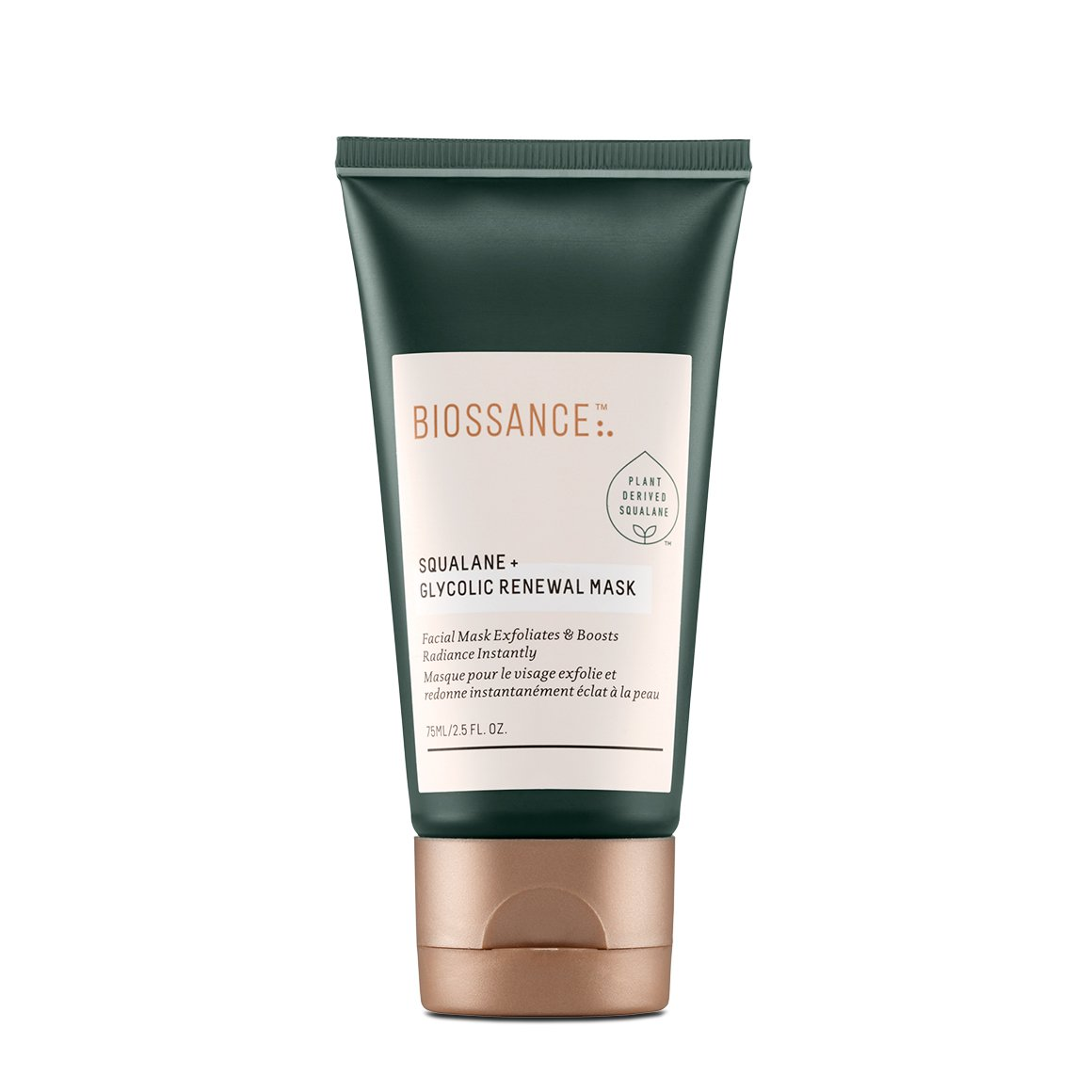 Biossance Squalane + Glycolic Renewal Facial Mask