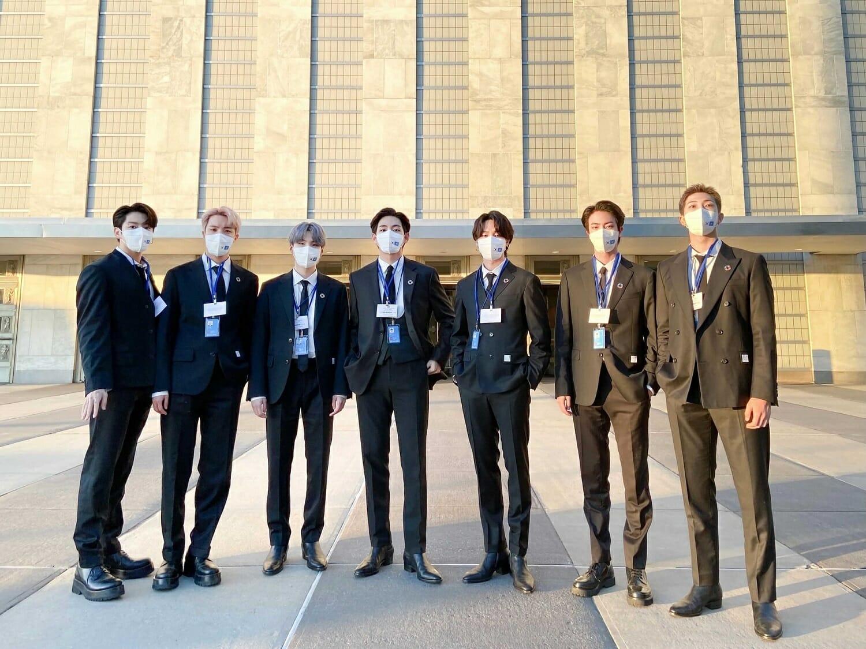 Band members at UN