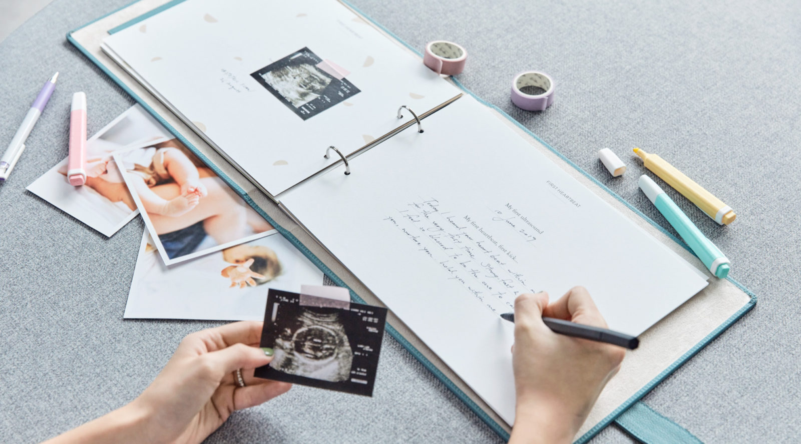 Document your pregnancy journey with this personalised journal from Bynd Artisan