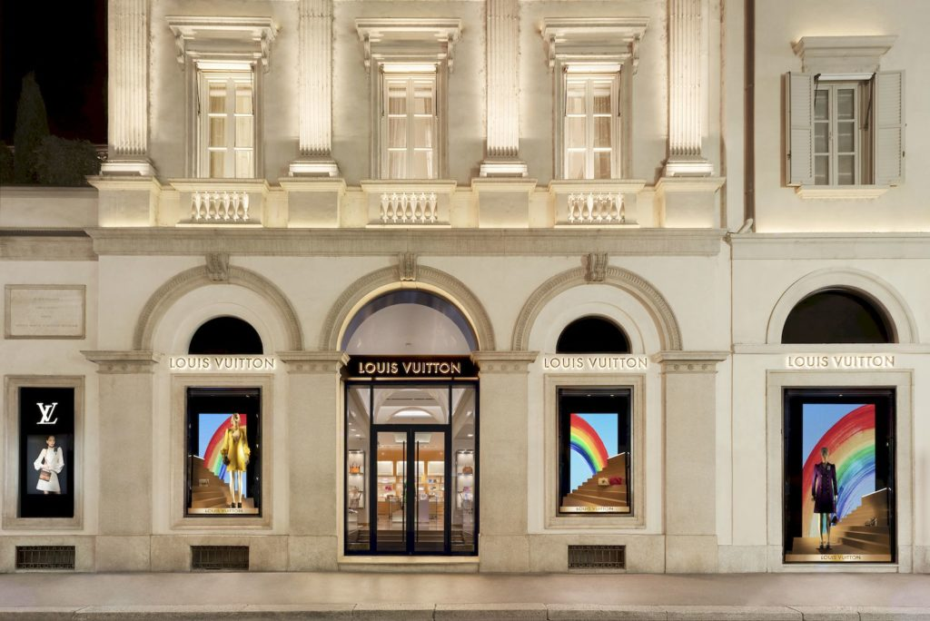Louis Vuitton unveils rainbow-themed window displays across the world