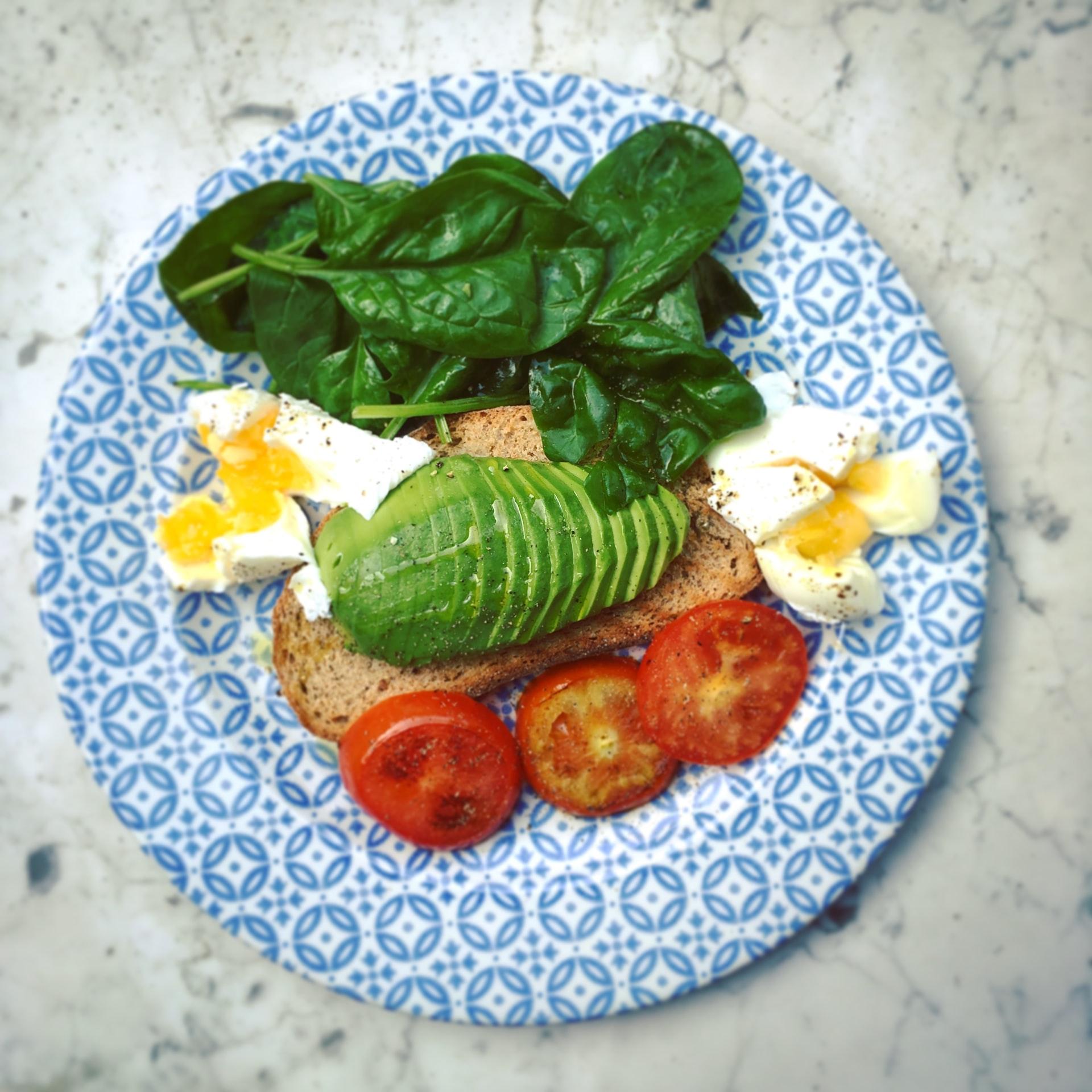 Avocado healthy snack breakfast