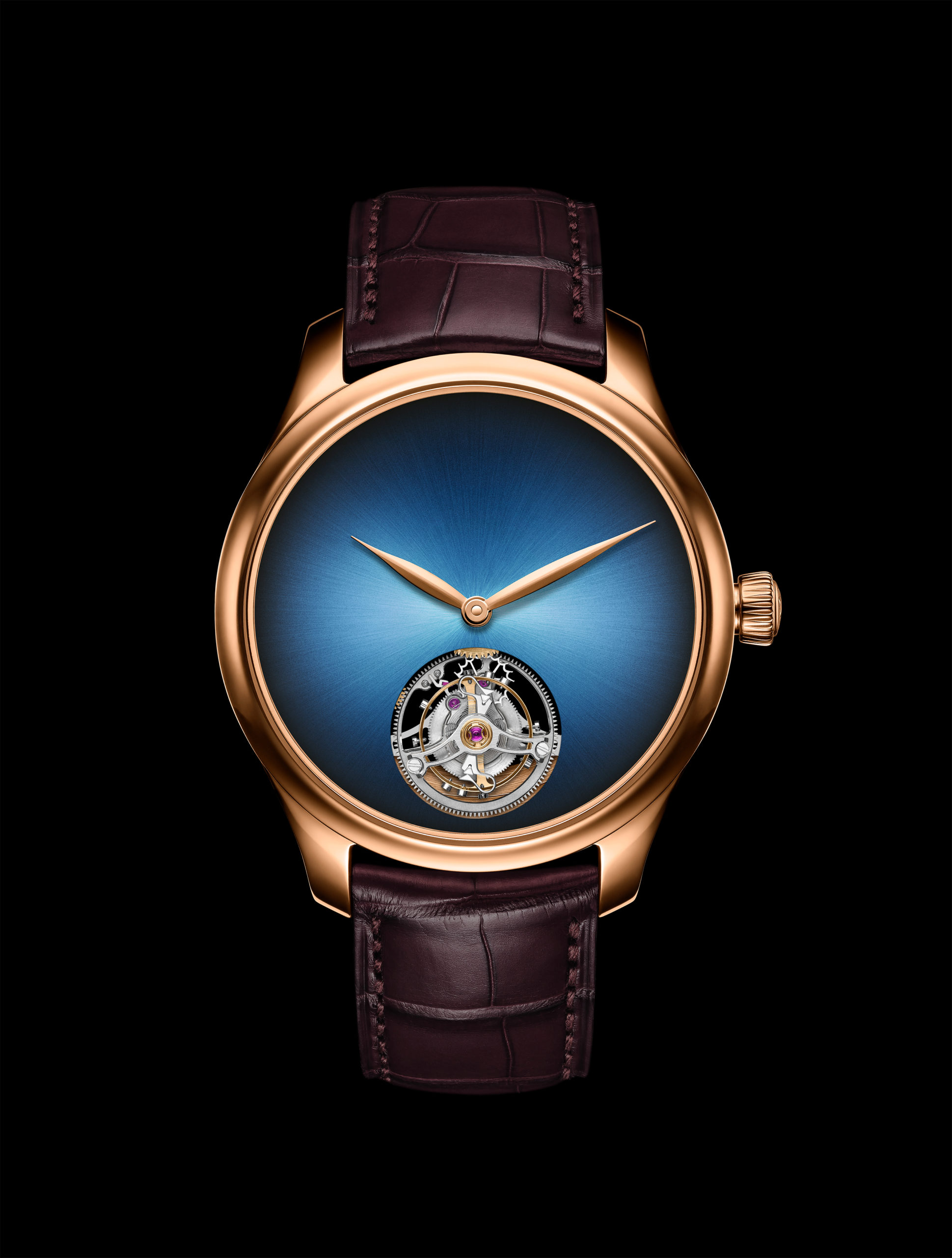 Endeavour Tourbillon Concept in 5N red gold (Image: H. Moser & Cie.)