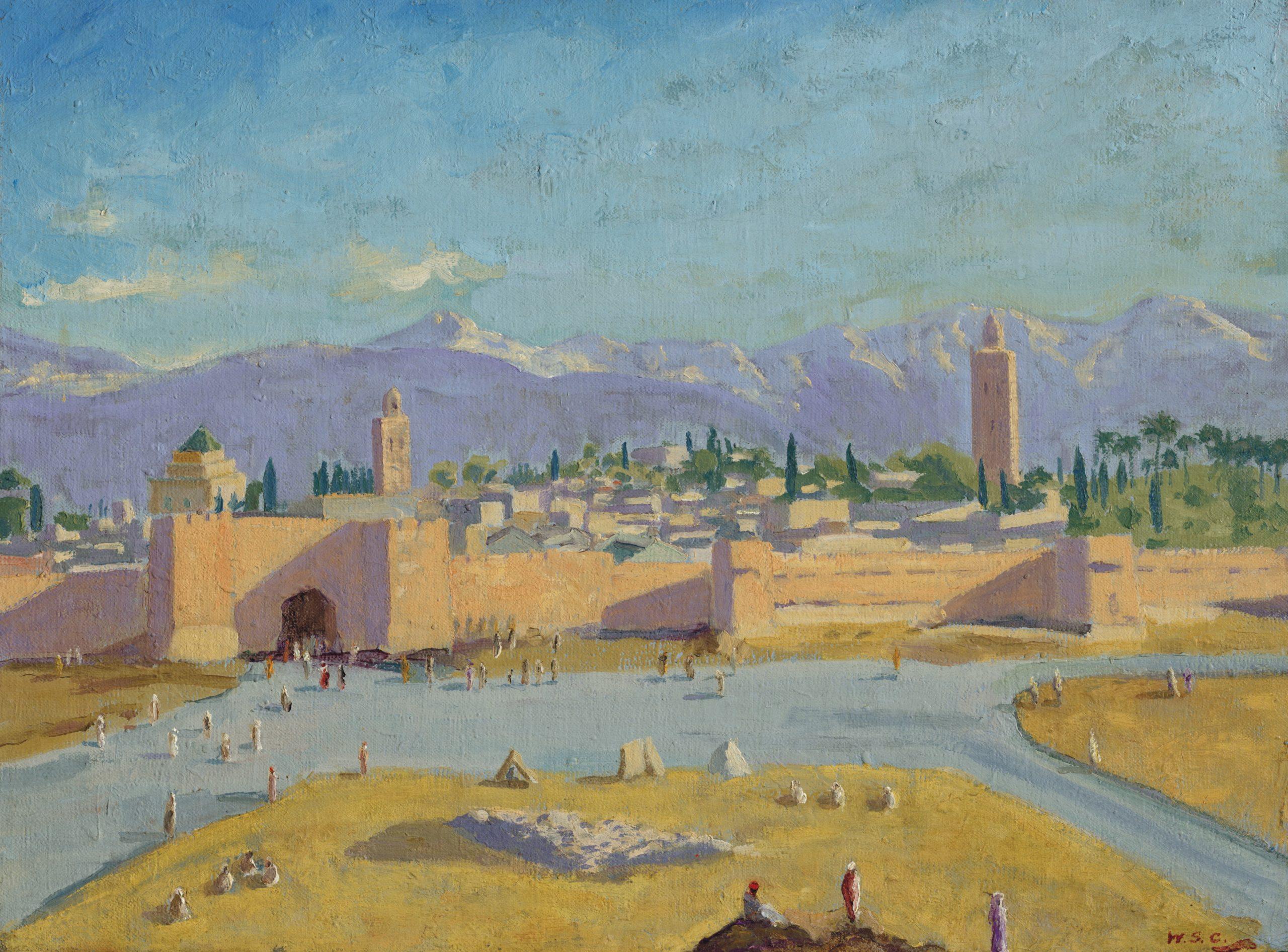 churchill's marrakesh painting