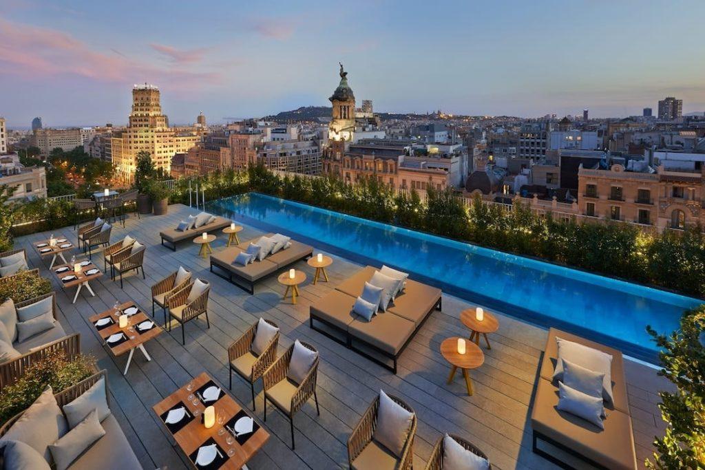 Terrat at the Mandarin Hotel Oriental, Barcelona, Spain