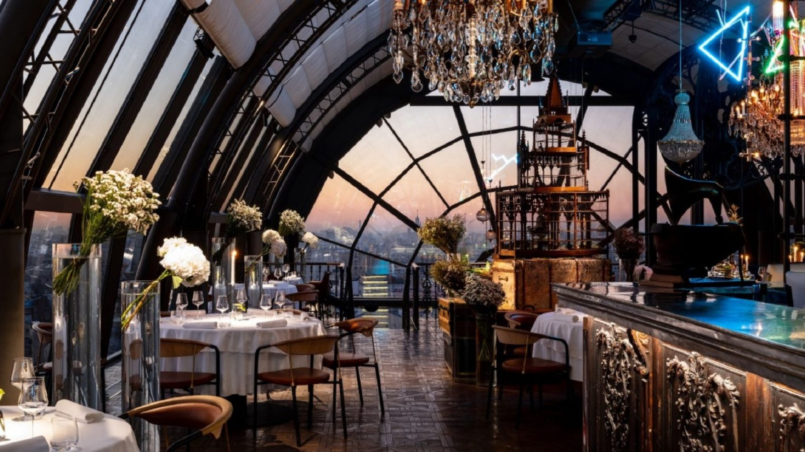 The most beautiful restaurants in the world with stunning architecture and interior design