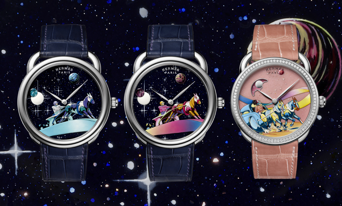 Race to the stars with Hermès' Arceau Space Derby watch