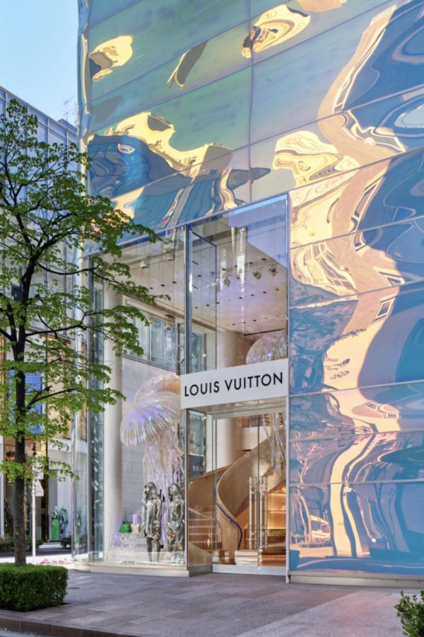 東京銀座路易威登專門店華麗變身:一棟極為現代的自然主義建築