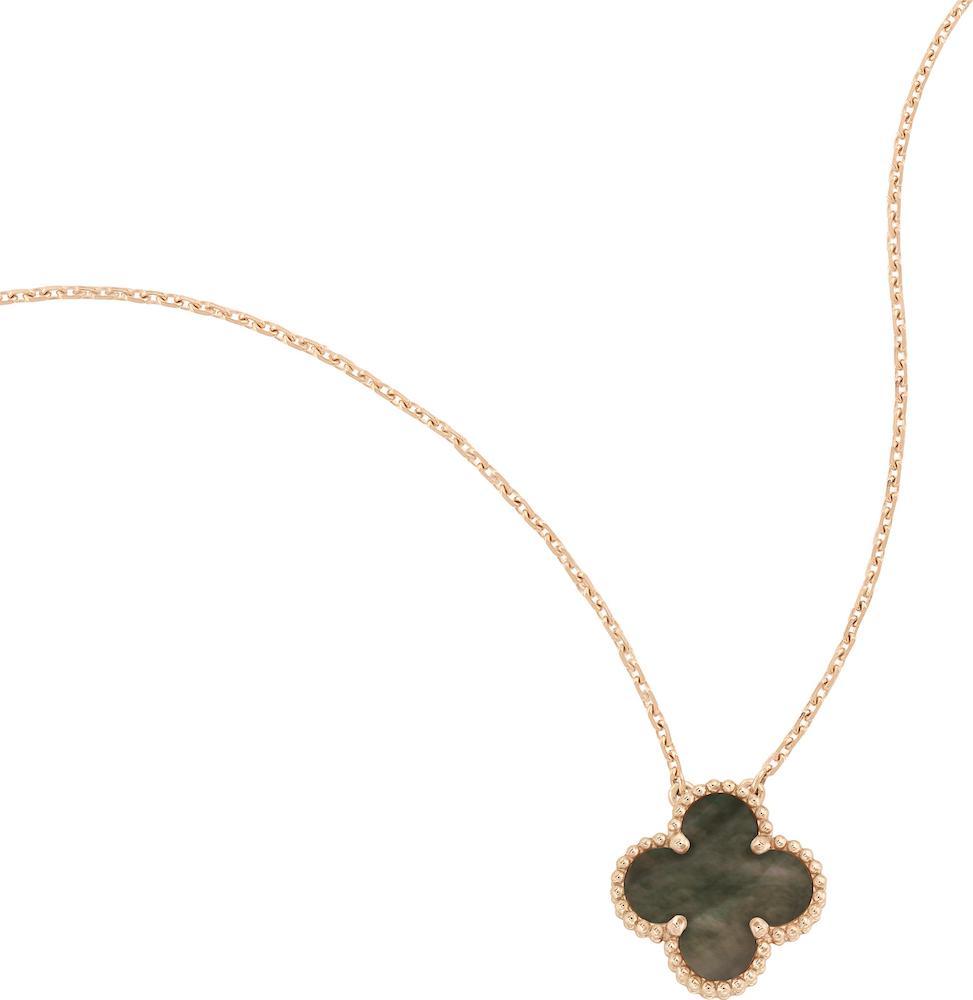 Van Cleef Arpels Grey Mother Of Pearl Vintage Alhambra Pendant