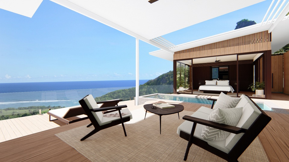 terrace design, capture sunlight and 360 of beach-view while you're relaxing or working.