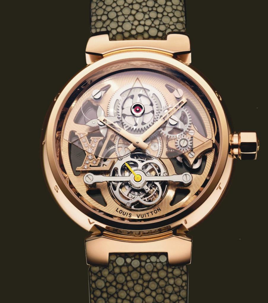 2004: Tambour Tourbillon in pink gold, louis vuitton watches