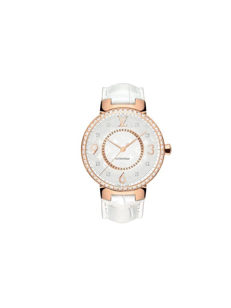2013: Tambour slim monogram in pink gold, louis vuitton watches