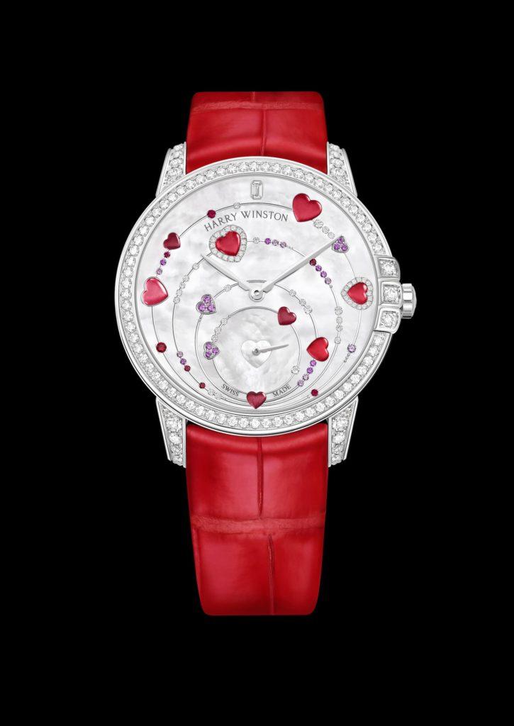 Red Harry Winston Watch