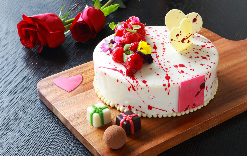 Valentine's Cake at Mocha and Muffins