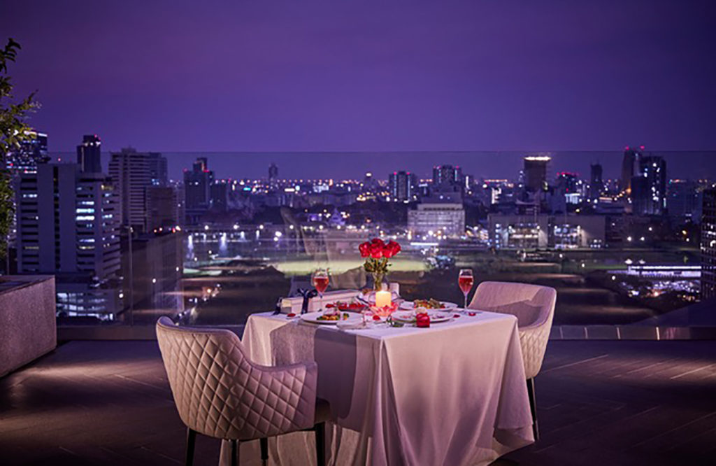 Valentine's Day rooftop dining at Sindhorn Kempinski