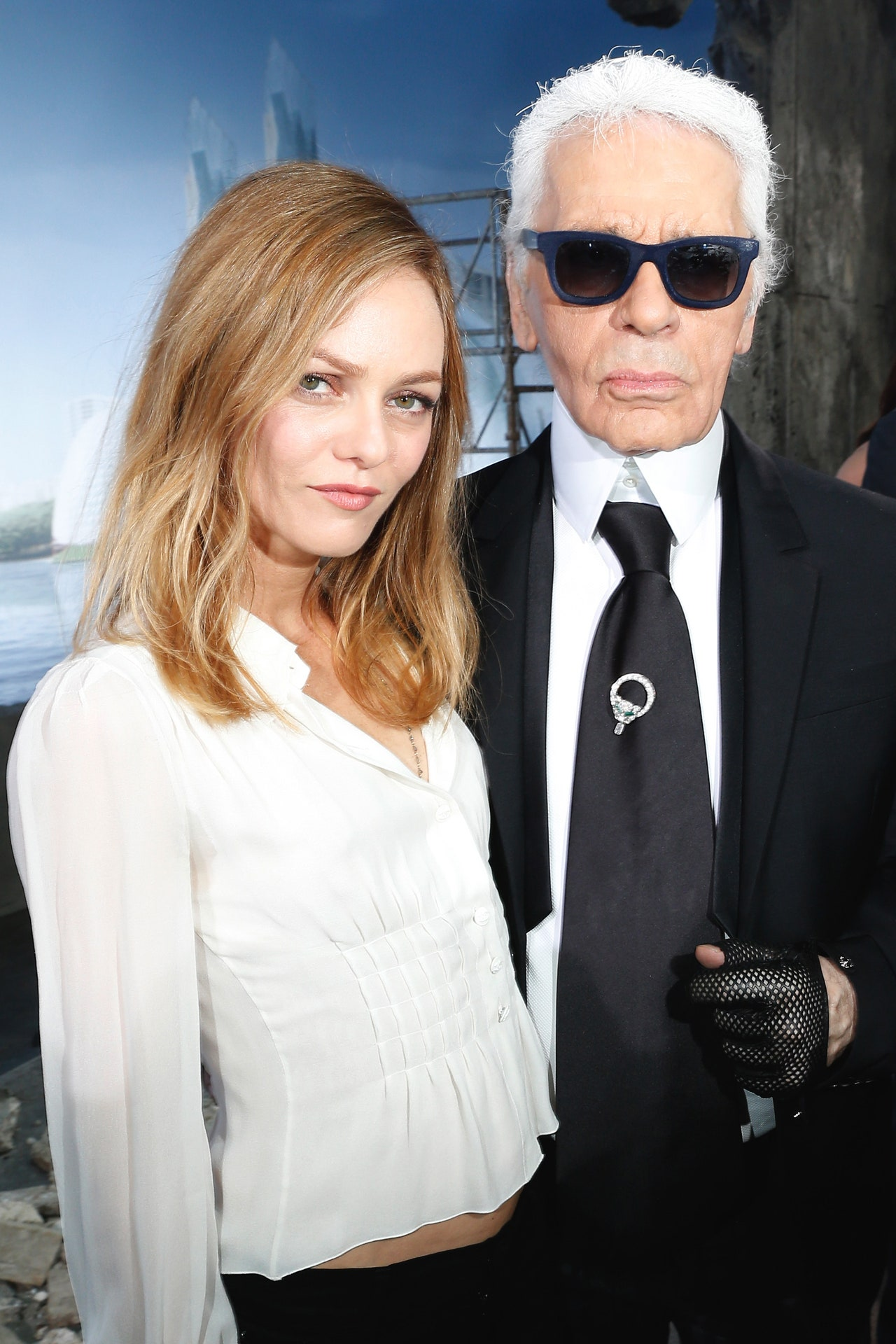 fashion muses Karl Lagerfeld and Vanessa Paradis muse