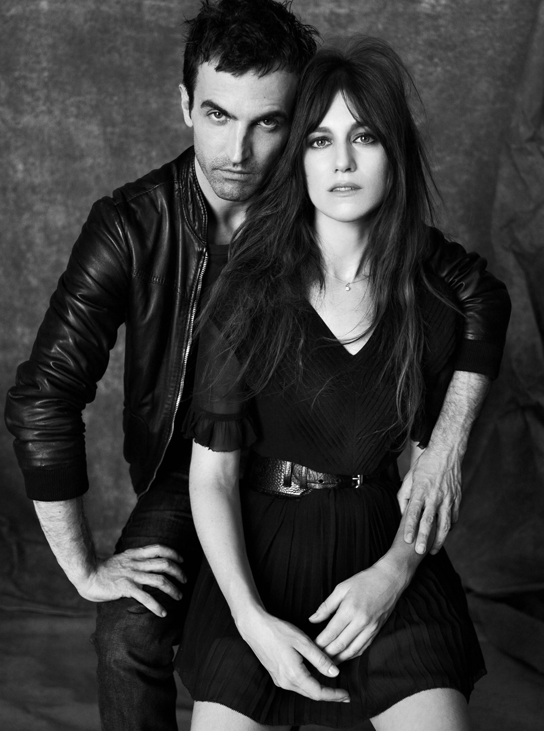 fashion muses Nicolas Ghesquière and Charlotte Gainsbourg muse