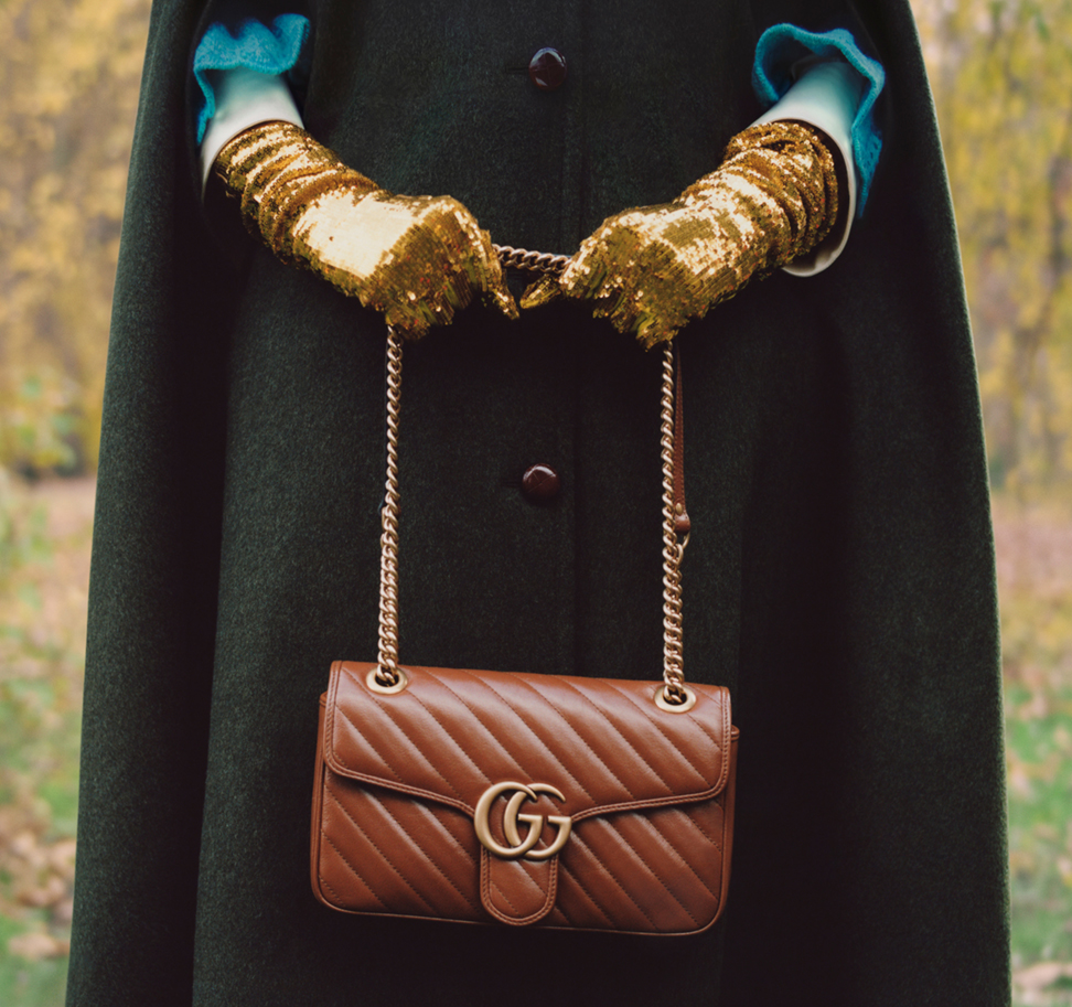 The GG Marmont with 70s-inspired Double G hardware.
