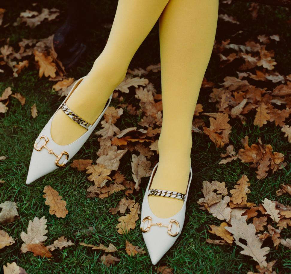 Gucci shoes: women's mid-heel pump with Horsebit