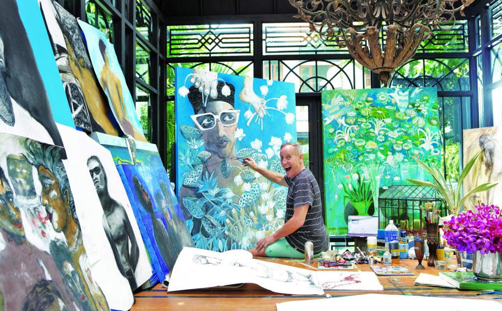 Bill Bensley at work in his studio