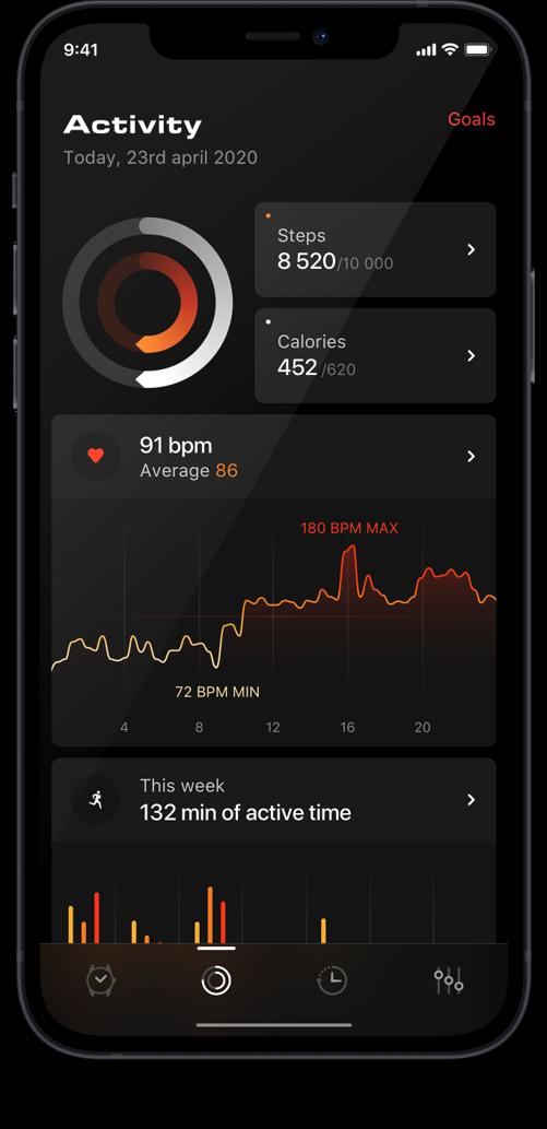TAG Heuer Wellness App