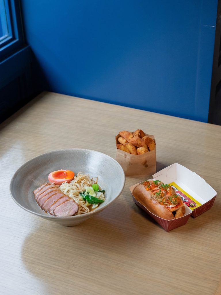The Duck Ramen and Lobster Roll