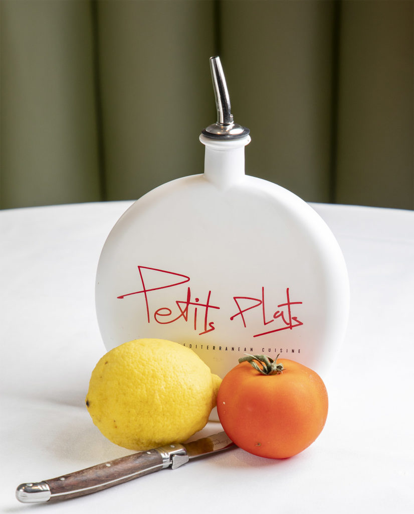 Lemon and Tomato table setting
