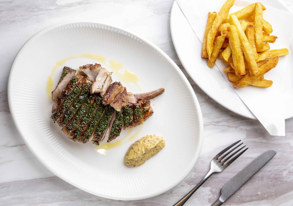 Pork Chop with a side of Frites Maison