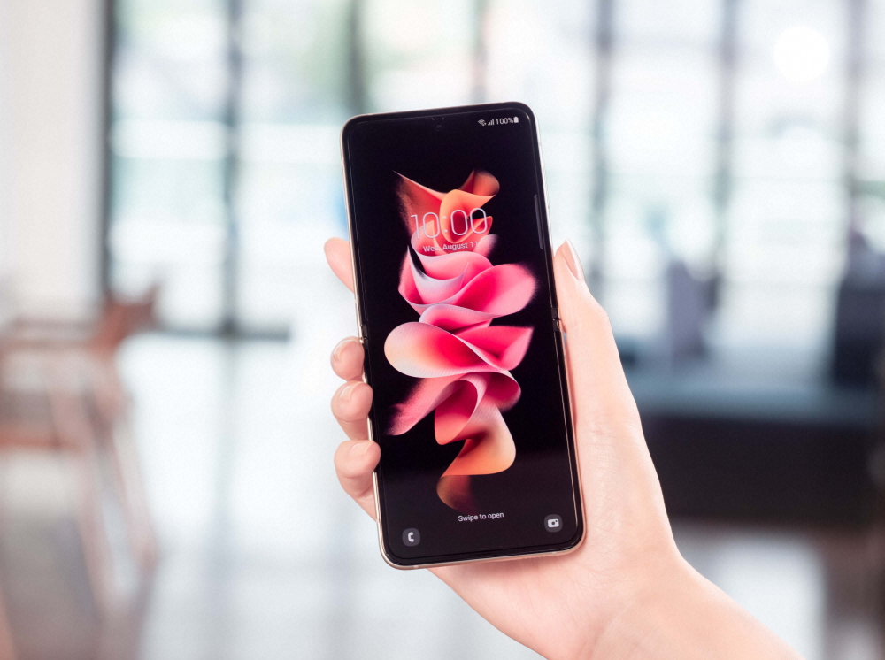 Galaxy Z Flip3 5G open