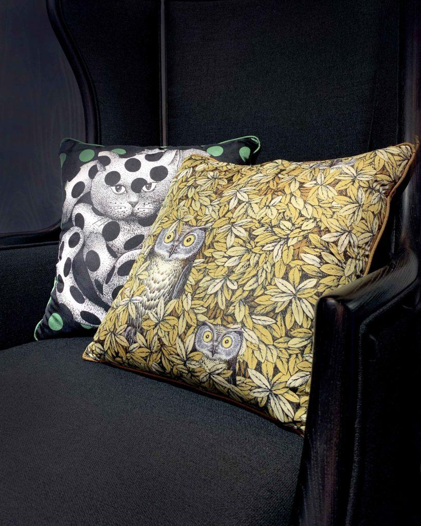 Piero Fornasetti italian cushions