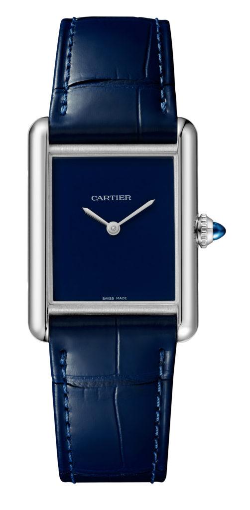 cartier tank blue