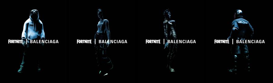 collaboration between fortnite and balenciaga