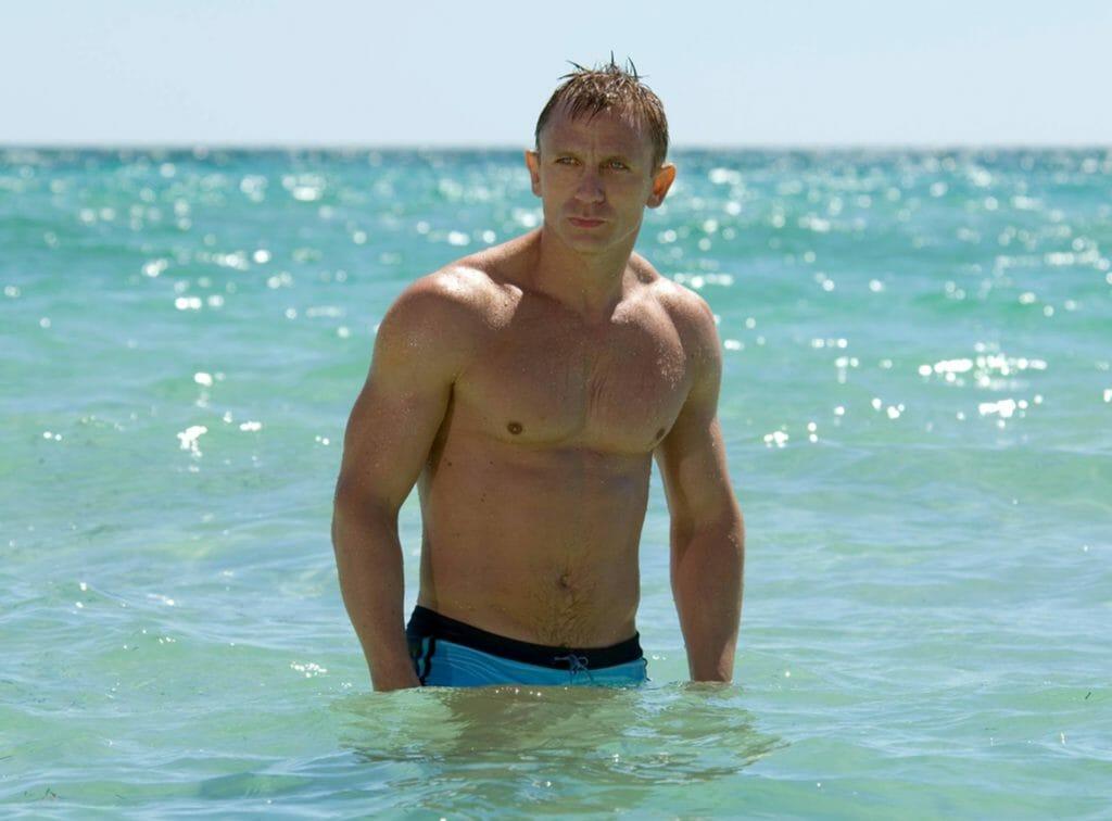 La Perla swimming trunks, brands that Daniel Craig style