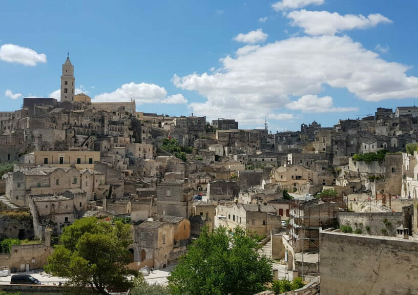 """filming locations of new james bond movie """"No Time To Die"""" - Panorama of Matera"""