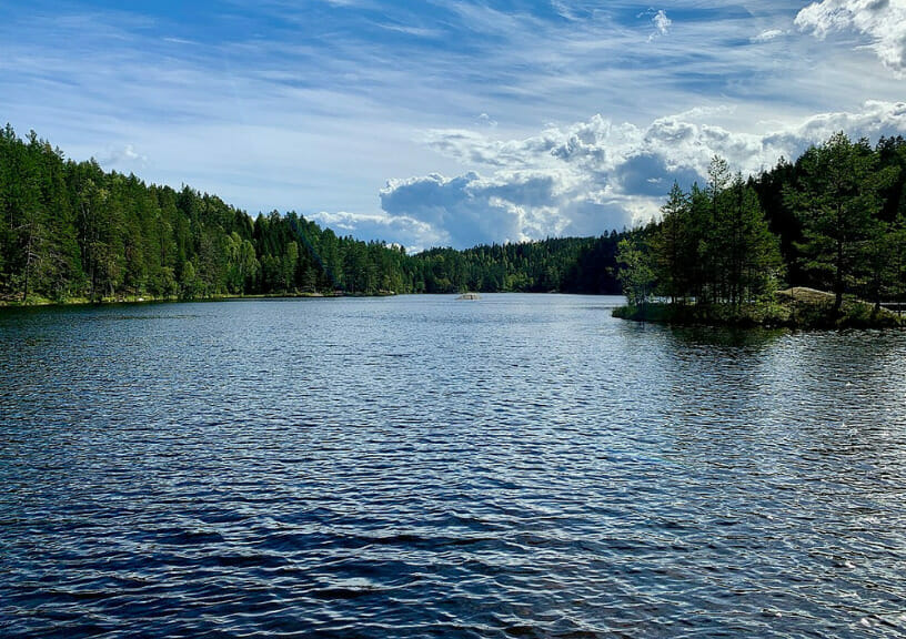 """filming locations of new james bond movie """"No Time To Die"""" - The serene Langvann Lake"""